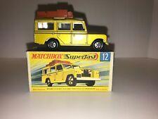 Matchbox Lesney Safari Land Rover 12 Mint In Original Box