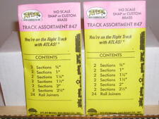 2 HO Atlas Brass Track Assortment Packages #47, New