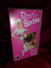 1992 OOP DANCE WORKOUT WITH BARBIE VHS 30 mins Mattel Looking Glass FREE UK P&P