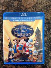 The Three Musketeers (Blu-ray,2014, 2-Disc Set,10th Anniversary)AUthentic Disney