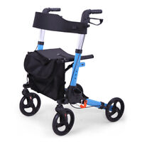 "Mobility Portable Rollator Walker w/Seat Backrest,8"" Wheels,for Seniors&Adults"