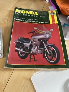 HONDA CX500/GL500 & CX650/GL650 V - TWINS 1978 to 1986 HAYNES WORKSHOP MANUAL