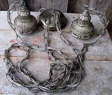 VINTAGE RETRO HANGING SWAG LIGHT CEILING FIXTURE HOME & GARDEN FOR PARTS REPAIR