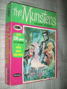Vintage Whitman The Munsters Grandpa Lab Jigsaw Puzzle 1965 COMPLETE IN BOX