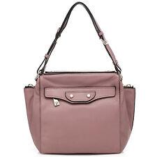 "Thompson Luxury Bags ""Miranda"" altrosa, echte Leder Tasche, Handtasche UVP 282 €"
