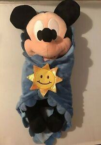 Authentic Disney Babies Mickey Mouse Plush And Blanket Disney World  Disneyana