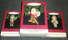 3 ~ Hallmark Ornament Yuletide Cheer, Harvest Joy,& Elf Marching Band Elves Lot