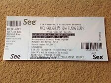 NOEL GALLAGHER USED GIG TICKET NOTTINGHAM ICE ARENA 30/04/18 FREE POSTAGE NGHFB