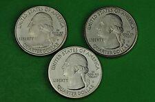 2018-P D S  BU Mint State ( Pictured Rock)  US Park Quarters(3 Coins)