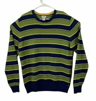 Vintage Levis Red Tab Mens Striped Crew Neck Sweater Size XL