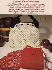 Accent & Small Wonders Handbag Patterns - Plaid's Purses 'a la Macrame - Vintage