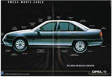 PUBLICITE ADVERTISING  1982   OPEL OMEGA MONTE CARLO ( 2 pages)