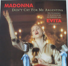 MADONNA POSTER Don't Cry For Me Argentina UK PROMO ONLY 'In-Store ' Rare