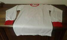 MAGLIA SHIRT VINTAGE '80 CALCIO FOOTBALL MATCH WORN WHITE RED BIANCO ROSSA