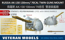Veteran Models 1/350 Russian AK-130 130mm/70cal Twin Guns Mount