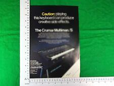 Crumar Multiman/S vintage keyboard advert 1979
