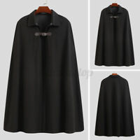 Autumn Men's Poncho Cape Coat Jacket Cloak Warm Outwear Coat Jumper Outwear Tops