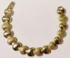 bracelet bijou vintage années 70 maillons gravé couleur or gold tone * 3506