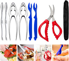 Crab Leg Crackers and Tools Picks Set Stainless Steel Seafood Utensils Kitchen