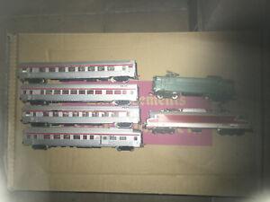 gege ecart HO lot locos bb cc et 4 wagons voyageurs tee