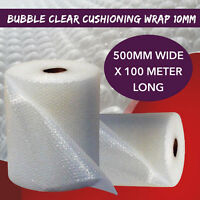 Bubble Cushioning Wrap 500MM Wide x 100Meter Roll Clear Wrapping Premium Grade