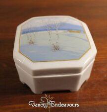 Ars Nova Schlacken Werth Czecho-Slovakia Porcelain Snow Scene Trinket Box