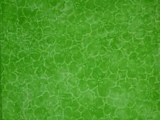 Green cotton fabric mod floral lava fade print quilting material 2 yards