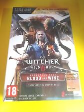 THE WITCHER 3 BLOOD AND WINE EDIZIONE LIMITATA + CARTE PC ITA NUOVO SIGILLATO