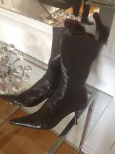 Enrico Antinori Black Italian Leather Boots - 39 1/2 (9 1/2)