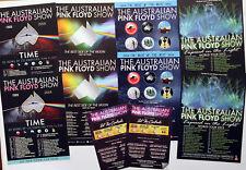 THE AUSTRALIAN PINK FLOYD SHOW FLYERS X 10  - 2018 TIME TOUR ETC
