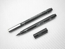 2 UNI-BALL Pin Fine Line Brush Drawing pen water & fade proof pigment ink Black