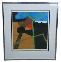 """Eve Domy 443 French Abstract Modern Art Hand Signed Serigraph Screen Print 33"""""""
