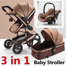 Neu 3in1 Kinderwagen Kombikinderwagen Komplettset Babywanne Babyschale Autositz