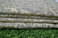 5 Yard Cotton Fabric Hand print Indian Handmade Craft Sewing Material Cotton