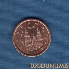 Espagne - 2012 - 1 Centime D'Euro - Pièce neuve de rouleau - Spain