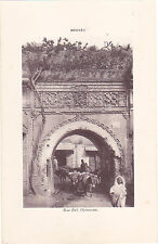 Heliogravure MAROC MEKNES Rue Bab Djenaoua