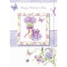 Mother's Day 'Flowers & Present' - Large Card