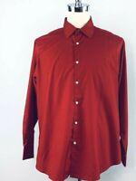 Modern Fit Long Sleeve Shirt for Men Size 17 1/2 34/35 Nicole Miller New York