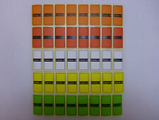 5 Colours = 40 Cable id Tidy Labels Self Adhesive Sticky Identification Stickers