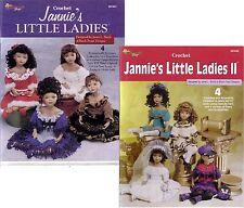 JANNIE'S LITTLE LADIES Vol 1&2 Crochet doll Patterns American School Needlework