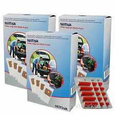 NILFISK Genuine MULTI Wet & Dry 20 20T 30T Vacuum Cleaner Dust Bags x 12 + Fresh
