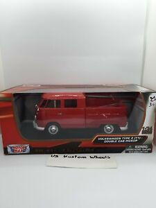 1:24 Motor Max VW T1 Type 2 Doka-pick up red