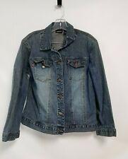 Vintage Chico'S Denim Jacket Sz 1 Medium/Hong Kong Button Up