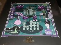 "New Disney Parks McBiff ""1313 Grim Harbor"" Haunted Mansion 50th Fine Art Print"