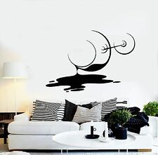 Wall Stickers Vinyl Decal Spilled Glass Of Wine Vine Romantic Decor (z1815)