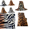 Animal Skin Luxury Faux Fur Throws Soft Warm Cosy Sofa & Bed Fleece Blankets DL