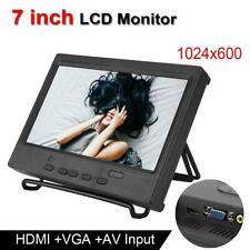"7""Portable LCD Monitor 1024x600 Multi-function Display Support HDMI/VGA/AV Input"