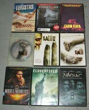 Dvd Lot 9 Movies Horror Thriller Science Fiction Saw Zodiac Cloverfield Turistas