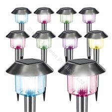 10 Pack x Colour Changing Solar Power Light LED Post Outdoor Lighting Garden