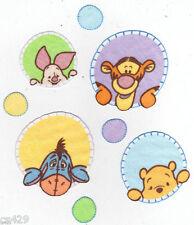 "2.5"" Disney peek a pooh piglet eeyore set nursery wall safe fabric decal cut"